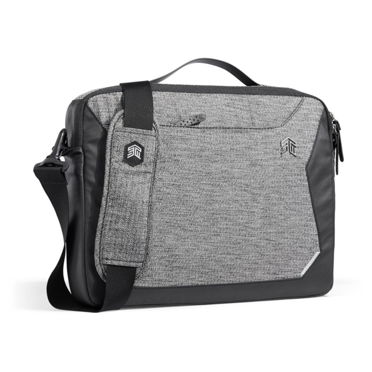"""STM Myth Brief Carry Case / Bag for 11.6-13"""" Laptop/Notebook Suitable for Ultrabook and Macbook Pro 13"""" & Macbook Air 13"""" - Granite Black"""