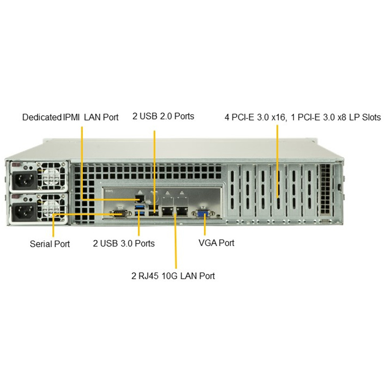 Buy the Supermicro 2029P-C1RT Barebone, 2U, 2x LGA3647, 16