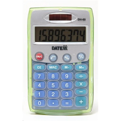 Buy the Datexx DH60C Calculator Dual Power ( DH60C ) online - PBTech com