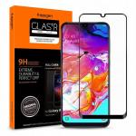 Spigen Galaxy A70 (2019) Premium Tempered Glass Screen Protector,Super HD Clarity, 9H screen hardness, Delicate Touch,Perfect Grip, Case Friendly with Spigen Phone Case 620GL26384